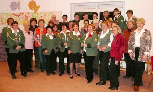 Teilnehmer Damenwinterschießen 2009